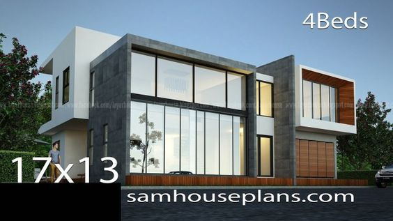 House Plans Idea 17x13m With 4 Bedrooms House Plans Story House 4 Bedroom House Plans