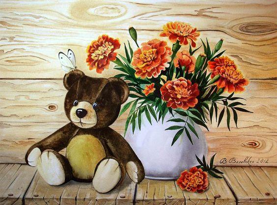 Papier, d'encre et de l'eau, et il y a une transformation ... Valevskaya artiste Valentina ..