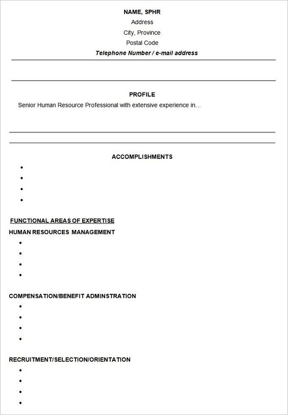 Functional Resume Templates  Free Samples Examples  Formats