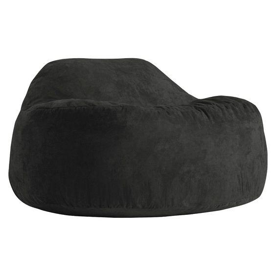 Chillum Cloud 9 Beanbag Comfort Suede Black Onyx - Big Joe