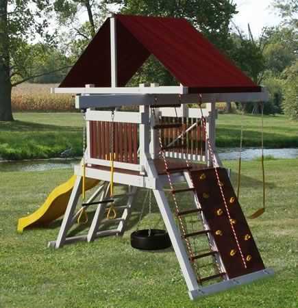 swing sets for small yards swing set i like how much less space this would take up 8420