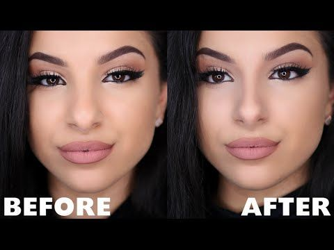 Make Your Nose Look Smaller With Makeup Nose Contour Youtube Eyelinerstyles Nose Makeup Nose Contouring Contour Makeup
