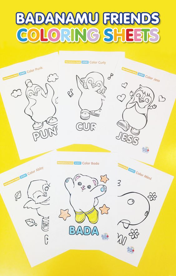 badanamu coloring pages - photo#25