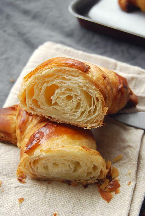 Recette des croissants maison ou croissant au beurre - Beurre d escargots maison ...