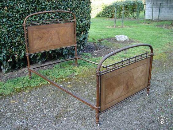 lit ancien fer et bois rv69 ameublement savoie chambre z lie pinterest. Black Bedroom Furniture Sets. Home Design Ideas