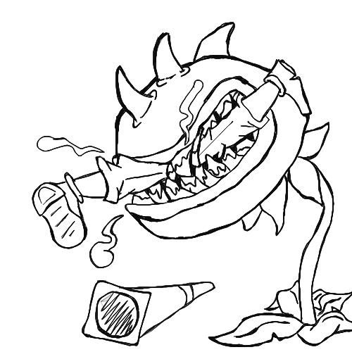 Plants Vs Zombies Coloring Pages Chomper Eat Zombie Plants Vs Zombies Coloring Pages Mermaid Coloring Pages