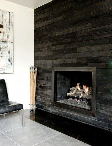 Foyer mur bois recherche google earth pinterest - Contour de cheminee decoratif ...