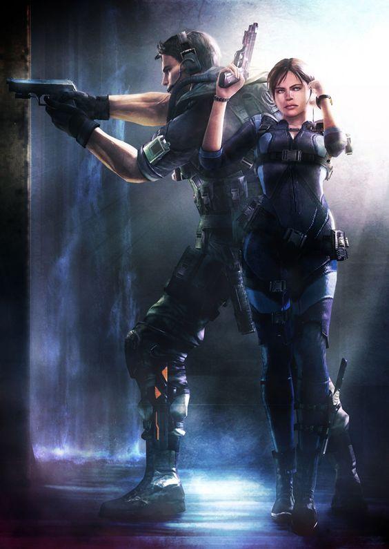 Resident Evil: Revelations - Chris & Jill Poster | Video ...
