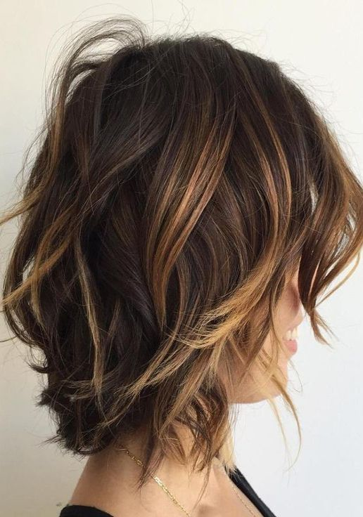 Textured Short Hairstyle For Fine Hair 2017 2018 Hair Styles Short Brunette Hair Chocolate Brown Hair