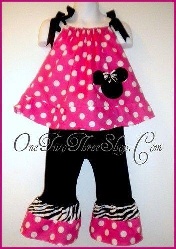 Custom Boutique Minnie Mouse  Pillowcase Pants set 12 by amacim, $35.00