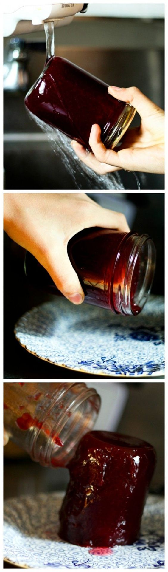 How to Make Homemade Jellied Cranberry Sauce ~ Delicious, nutritious homemade Jellied Cranberry Sauce with a hint of orange is just what your cranberry sauce lovers want at the Thanksgiving table!