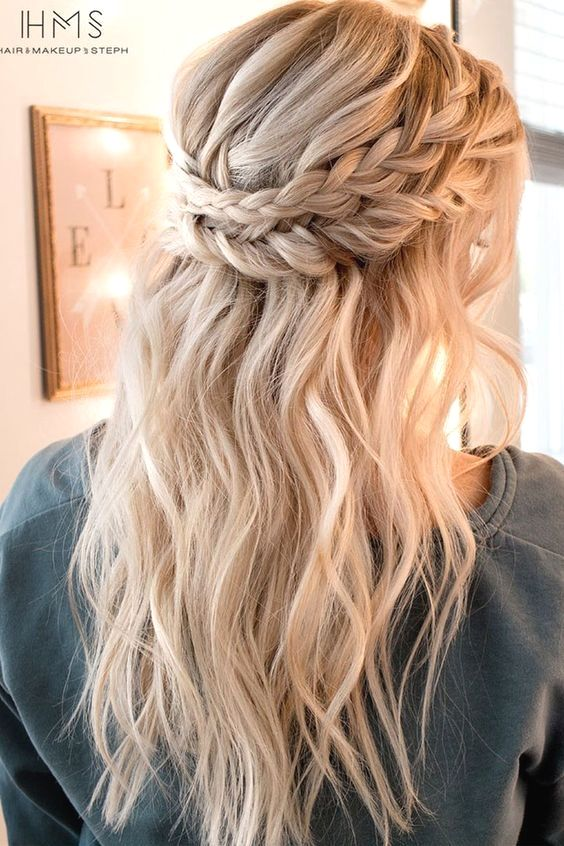 Hairstyles For Medium Length Hair With Fringe Long Hair Updo Medium Length Hair Styles Hair Styles