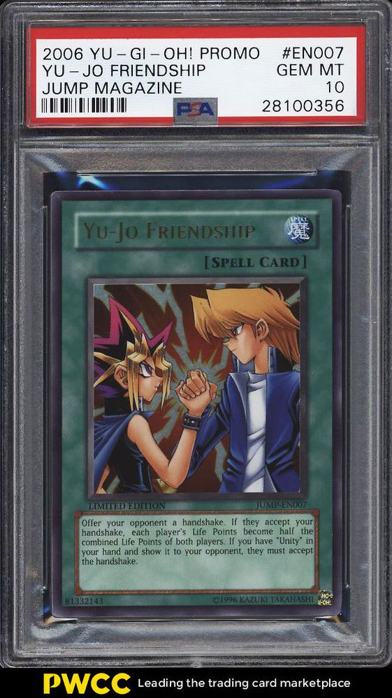 2006 Yu Gi Oh Promo Jump Magazine Yu Jo Friendship Jump En007 Psa 10 Pwcc Yugioh Sports Cards Trading Cards