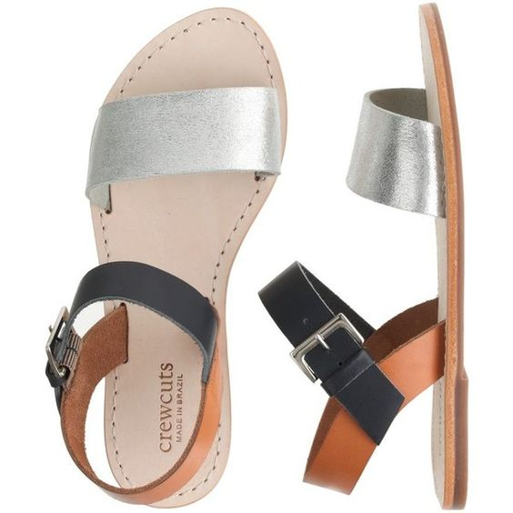 J.Crew Girls' colorblock sandals ($55) ❤ liked on Polyvore featuring kids, kids shoes и shoes