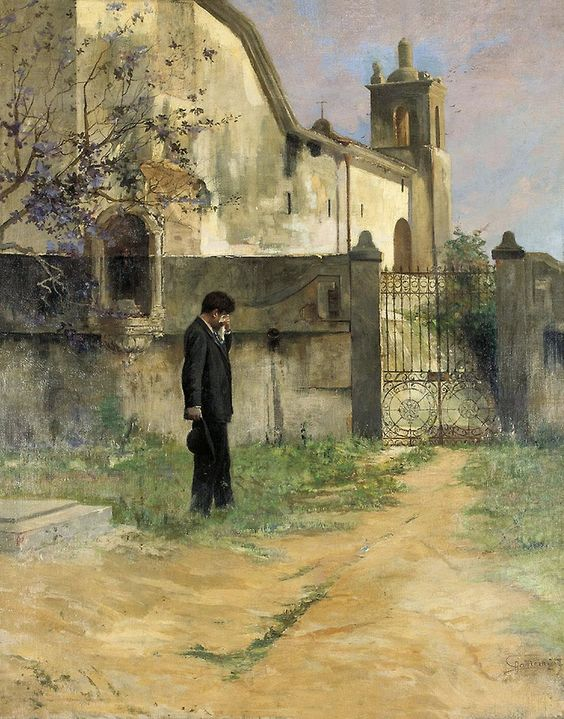 ANTÔNIO PARREIRAS - Saudade Óleo sobre tela - 92 x 73 - Década de 1910