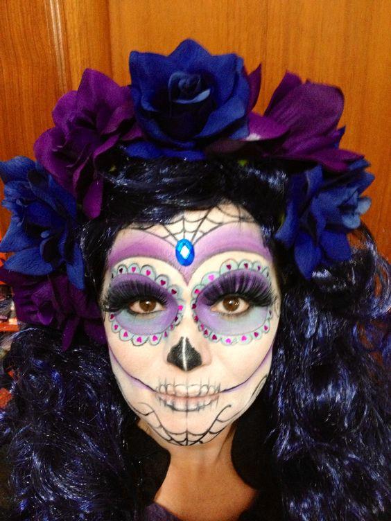 Catrina, makeup, sugar skull.