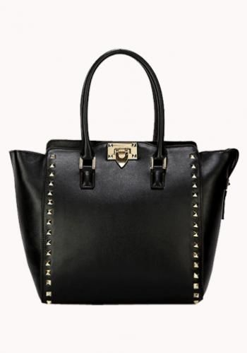 SAMANTHA MEDIUM LEATHER BAG BLACK $129.00