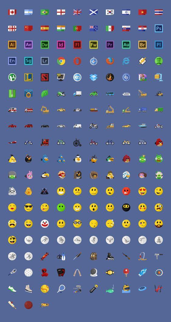 640 Flat icons + PixelDropr #graphic #design #flat