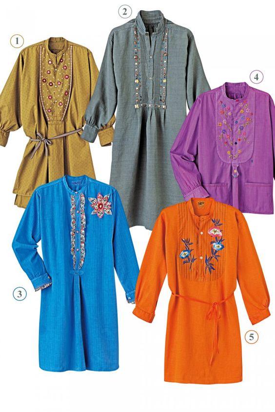 Des tuniques customisées