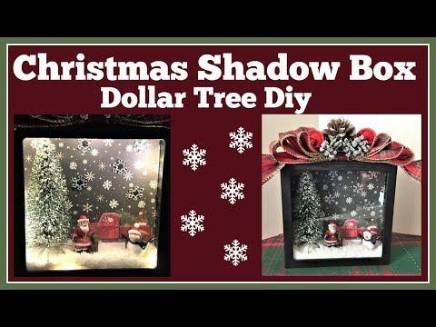 Christmas Shadow Box Dollar Tree Diy Youtube Christmas Shadow Boxes Diy Christmas Shadow Box Dollar Store Christmas Crafts