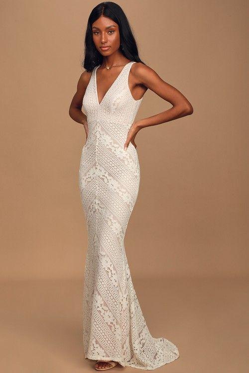 Alianna White Lace Mermaid Maxi Dress In 2020 Lace White Dress Dresses Maxi Dress