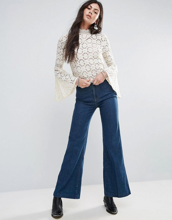 Free People Ray of Sunshine Flared Jeans
