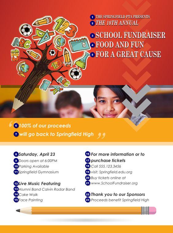 School Fundraiser Flyer Samples Invitation Templates – Flyer Samples