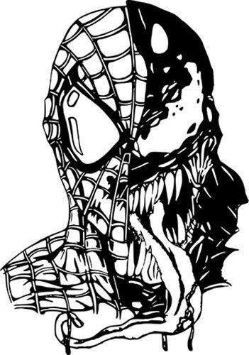 Sponsored Ebay Spiderman Venom Marvel Comics Car Truck Wall Window Vinyl Sticker Decal 12 Spiderman Coloring Spiderman Drawing Venom Spiderman