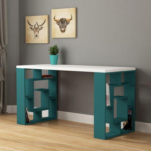 Linus White Turquoise Desk Modern Desk Turquoise Desk Home Decor Bedroom