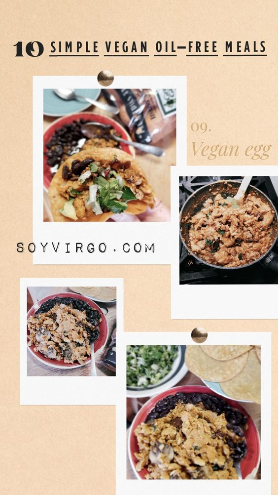vegan eggs taco meals oil free sugar free | soyvirgo.com