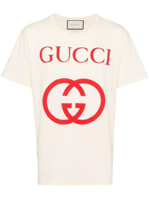 Gucci Interlocking G Logo T Shirt Farfetch Marca De Ropa Camisetas Camisetas Estampadas