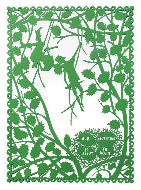 Our Adventure lasercut by Rob Ryan by somagallery, via Flickr