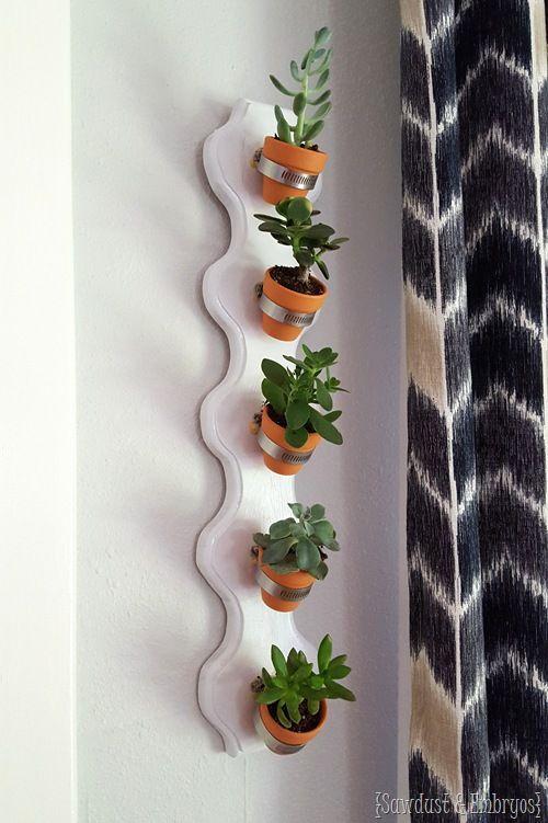 Vertical Succulent Wall Planter Tutorial Succulent Planters