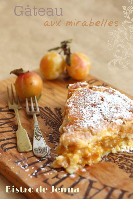Gâteau aux mirabelles i1kg 200 de mirabelles une pate sablée 80g de sucre roux 200g de mascarpone 20g de sucre  1 jaune d œuf jus 1/2 citron 3cas de poudre d amande sucre en poudre sel 20/09/2013