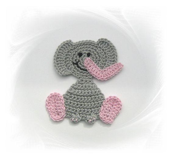 +Elefant++Häkelapplikation+von+SaVö-Design+Häkelapplikationen+auf+DaWanda.com
