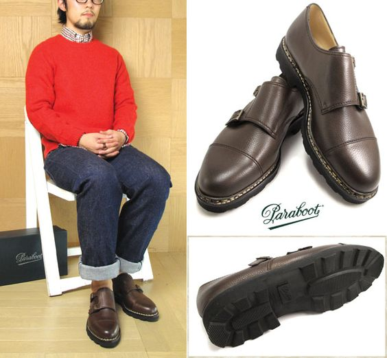 Rakuten: Product made in Paraboot ≪ Para boots ≫ #WILLIAM -Ebene- Double Monk Strap Shoes ウィリアムダブルモンクストラップシューズグレインレザーエベーヌノルヴェイジャン welt manufacturing method rubber sole France- Shopping Japanese products from Japan