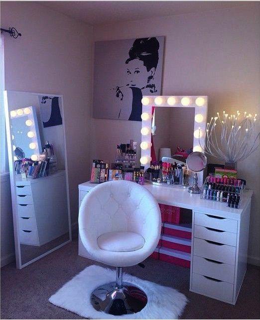 Pin On Makeup Vanity, Makeup Vanity No Mirror