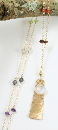 Chakra Necklace Rectangle $55