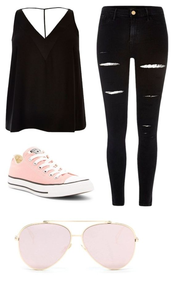 """""""Untitled #52"""" by neilleea on Polyvore featuring River Island and Converse"""