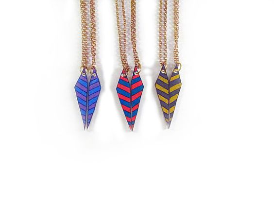 Chevron Arrow Best Friend Necklaces / by PeriwinkleNuthatch, $18.00    I MUST HAVE!
