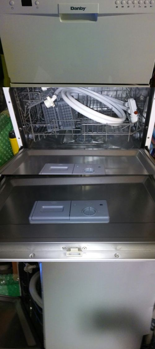 Dishwashers 116023 Danby Portable Dishwasher Never Used Model Ddw611wled Buy It Now Only 139 9 Portable Dishwasher Dishwasher White Countertop Dishwasher