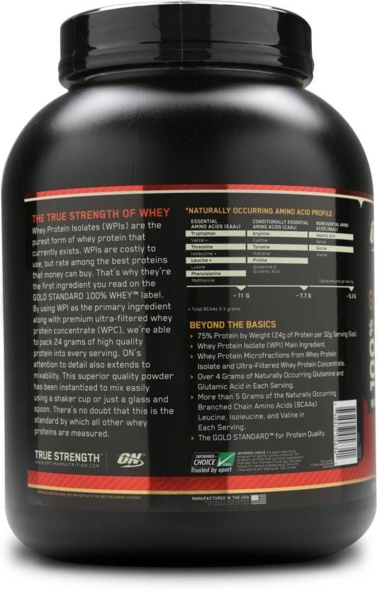 Optimum Nutrition Gold Standard 100 Whey Protein 5 Lb Is Blended With Whey Protein Isolate And Ultra Filtered Whey Protein Concentrate That Facilitates Lean M