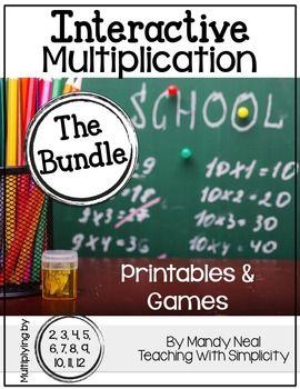 Number Names Worksheets beginning multiplication games : Interactive Multiplication Printables and Games (The Bundle)