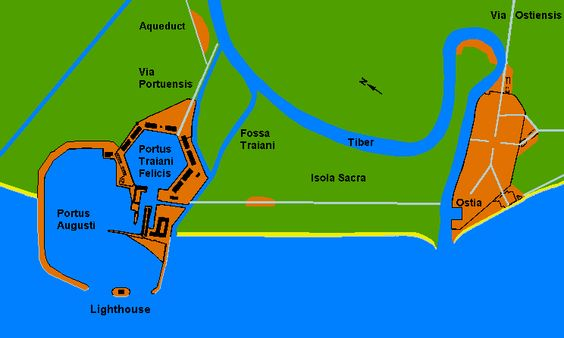 Map of Ostia and Portus