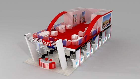 Mika Tur 3d fair stand display panel model design