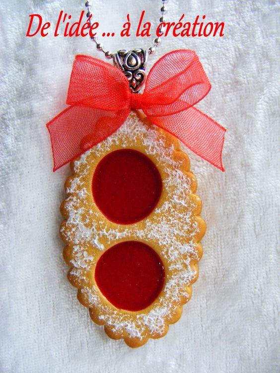 Sautoir gourmand biscuit à la confiture de fraise