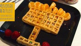 Menorah waffles! Super-easy Chanukah breakfast