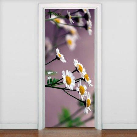 Adesivo de Porta - Adesivo de Porta Flores