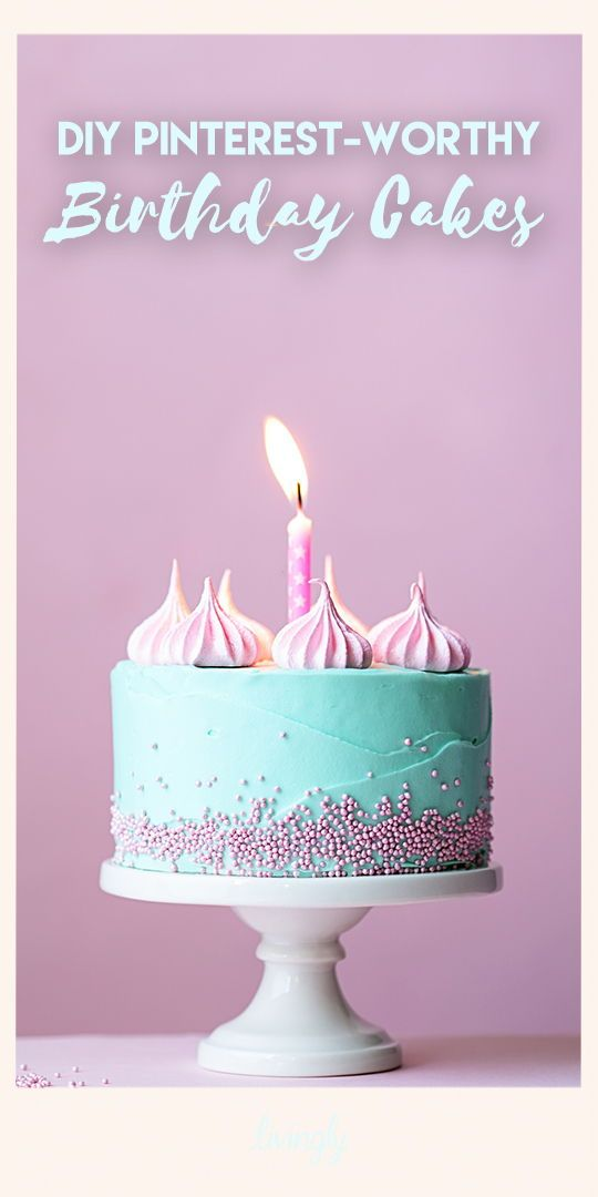 Incredible Pinterest Worthy Birthday Cakes You Can Actually Make Cake Personalised Birthday Cards Bromeletsinfo