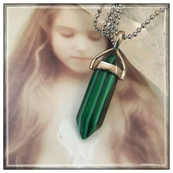 ✨Malachite Healing Necklace✨ ✨Malachite is a protection stone, absorbing negative energies and pollutants from the atmosphere and from the body✨As a stone of travel, Malachite protects and overcomes fears of flying✨It helps with jet lag, encourages smooth business travel, and protects in travel on congested highways✨Malachite is known for being a stone of support for airplane and airline workers as a protection against accidents, miners for protection from unexplained accidents.✨Chain Is 20 ...: